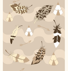 Native american background vector