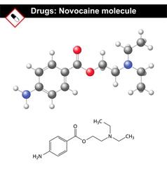 Novocaine molecule vector image