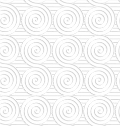 Paper white merging spirals on stripes vector