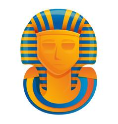 Pharaoh monument icon cartoon style vector