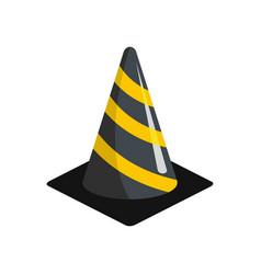 plastic cone icon flat style vector image