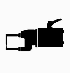 Portable spot welding hand machine vector