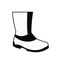 Rubber boots black simple icon vector
