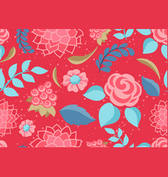 seamless pattern with gentle flowers vector image