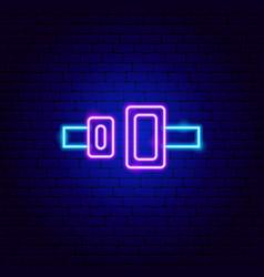 seat belt neon sign vector image
