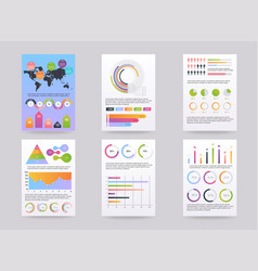 set of brohucres with infographic elements vector image