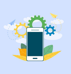 smartphone for business management investment an vector image