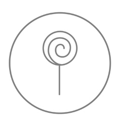 Spiral lollipop line icon vector image