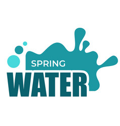 Spring water liquid splash and drops isolated icon vector