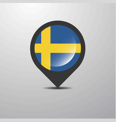 sweden map pin vector image