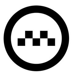 taxi symbol icon black color in circle vector image