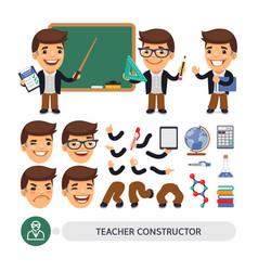 Teacher character constructor vector