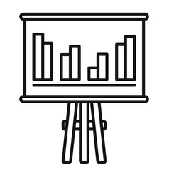 Trade war banner graph icon outline style vector