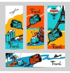 Travel Photo Banner Set vector image