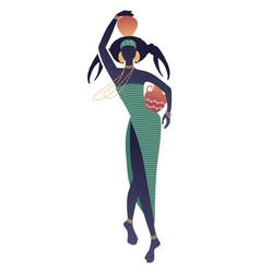 Tribal zodiac cancer elegant woman with an vector