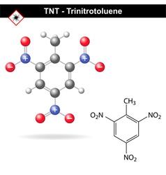 Trinitrotoluene - tnt explosive agent vector