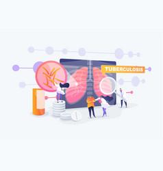 Tuberculosis concept vector