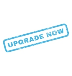 Upgrade Now Rubber Stamp vector