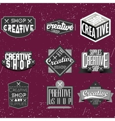 Vintage black and white logotype vector image vector image
