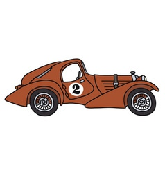 Vintage racing car vector