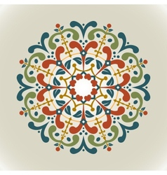 Vintage with radial ornament vector