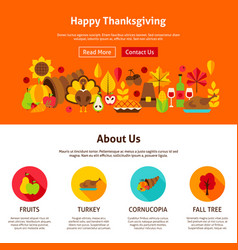 Web design happy thanksgiving vector