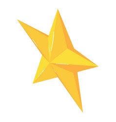 christmas star icon isometric 3d style vector image