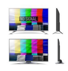 distorted glitch tv digilal no signal glitch art vector image vector image