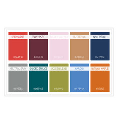 fall colors for 2017 colors of the year palette vector image