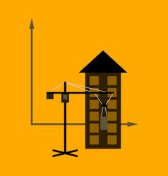 flat icon on stylish background construction vector image
