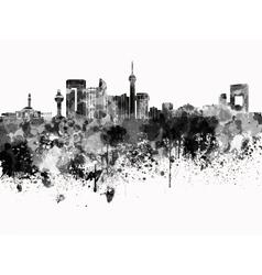 Jeddah skyline in black watercolor on white vector image