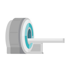 mri scanner machine cartoon vector image