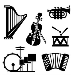 musical tools icons vector image