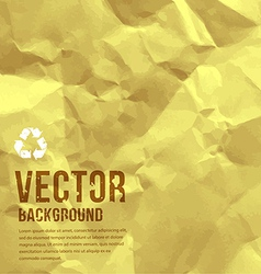 Paper recycle crumpled background vector image