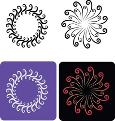 Decorative flowers 6 vector image vector image