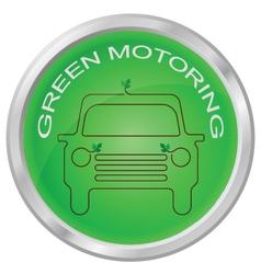 GREEN MOTORING vector image vector image