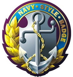 marine style emblem vector image vector image