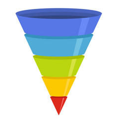 marketing funnel icon flat style vector image