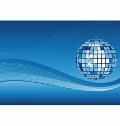 mirror ball and waves background vector image vector image