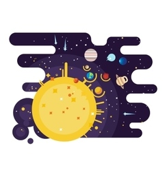 Solar system flat style vector image