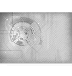 tech background grey vector image vector image
