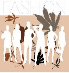 autumn fashion vector image