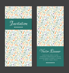 cards set with decorative flowers pattern vector image vector image