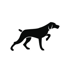 Hunting dog black simple icon vector image vector image