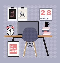 modern office workspace vector image