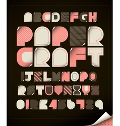 Paper Craft vector image