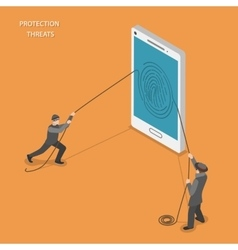 Protection threats isometric flat vetor concept vector image vector image