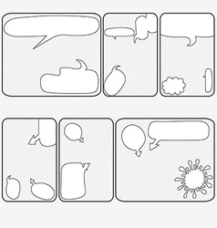 sketchy bubbles speech vector image vector image