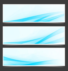 blue unique abstract wave swoosh header vector image vector image