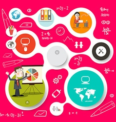 Circle Infographics and Web Design Template vector image